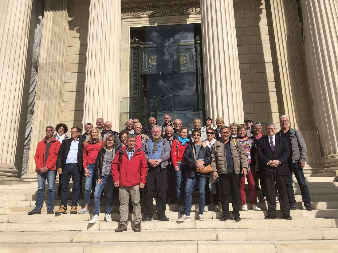 Visite de l'Assemblée nationale de la section du Club vosgien de Diemeringen le 02.10.19
